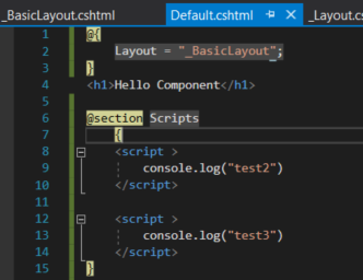 ASP Net Core - Scripts in ViewComponent rendered in Layout Section